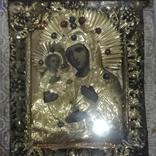 Богородица 43х49. В бисере и окладе. Икона со шпонками., фото №2