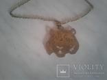 Медальон и цепочка латунь, фото №3