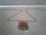 Медальон и цепочка латунь, фото №4