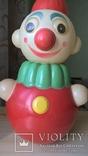 Неваляшка Клоун Детская игрушка Целлулоид СССР, фото №2