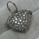 Серебряный Локет Подвеска для фото Сердце День Святого Валентина 925 проба Серебро 558