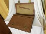 Винтажный кожаный портфель профессора, фото №7