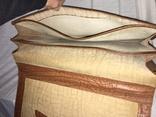 Винтажный кожаный портфель профессора, фото №10