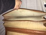 Винтажный кожаный портфель профессора, фото №11