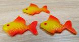 Елочные игрушки мышка, лебедь, рыбки. картон и пластмасс, ссср. 5 штук., фото №4