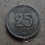 25 эре 1961  Швеция серебро   (К.43.26)~, фото №2