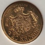 20 крон 1886 год MS-65 Швеция золото 8,97 грамм 900', фото №5