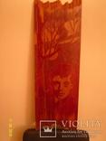 Портрет Есенина (резьба по дереву), фото №4