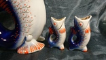 Штоф и 4 стопочки рыбки.Полонский ф-з., фото №4