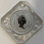 100 $ 1993 год Австралия «Коала» платина 31,1 грамм 999,5', фото №3
