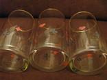 Три стакана для картёжников - стекло - Польша., фото №3