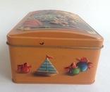 Коробка от конфет У ёлки. Металл, жесть., фото №7
