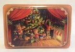 Коробка от конфет У ёлки. Металл, жесть., фото №9