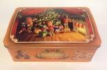 Коробка от конфет У ёлки. Металл, жесть., фото №10