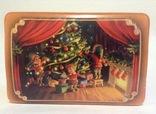 Коробка от конфет У ёлки. Металл, жесть., фото №11