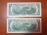 2 доллара США две банкноты 2013 сразу