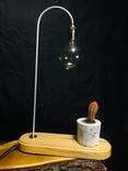 Светильник настольный CHEFIRCHIKo НС000101 , с вазоном для кактуса фото 3