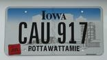 Лицензионный автомобильный номерной знак США. Iowa. USA., фото №2
