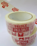 """Скотч упаковочный, канцелярский """"Fragile"""" (хрупкое) 60 м. 1 шт., фото №2"""