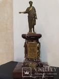 Дюк де Ришелье скульптура на мраморе 22,5 см, фото №2