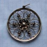 Кулон серебро СССР 875 проба, фото №3