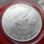 США 1 доллар 1991 г. Серебро. 38-летие окончания войны в Корее., фото №3