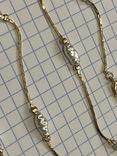 Винтажный позолоченый набор с Англии колье + браслет, фото №5