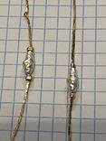 Винтажный позолоченый набор с Англии колье + браслет, фото №6