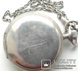 Швейцарские часы лонжинес 30х годов 20 века.рабочие с серебрянной цепочкой, фото №2