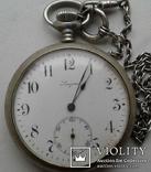 Швейцарские часы лонжинес 30х годов 20 века.рабочие с серебрянной цепочкой, фото №3