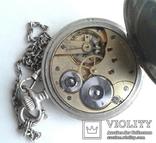 Швейцарские часы лонжинес 30х годов 20 века.рабочие с серебрянной цепочкой, фото №5