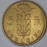 Бельгія 5 франків, 1972 BELGIE