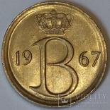 Бельгія 25 сантимів, 1967 BELGIE