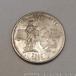США ¼ долара, 2000 Квотер штату Массачусетс