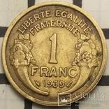 Франція 1 франк, 1939