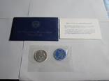 1 Доллар 1972г  в запайке с жетоном, в конверте, фото №2