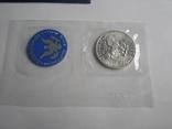 1 Доллар 1972г  в запайке с жетоном, в конверте, фото №6