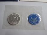 1 Доллар 1973г  в запайке с жетоном, в конверте, фото №6