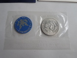 1 Доллар 1974г  в запайке с жетоном, в конверте, фото №6