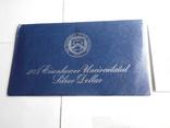 1 Доллар 1974г  в запайке с жетоном, в конверте, фото №9