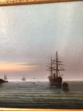 Корабль у берегов худ. М. Рейнусь, фото №5