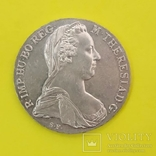 1 Талер Марія Тереза 1780р. Срібло., фото №2
