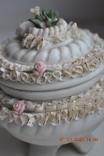 Фарф шкатулка (сахарница). Capodimonte, Victoria. Made in Italy. Decorato a mano. Позолота, фото №4