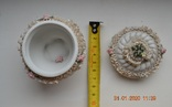 Фарф шкатулка (сахарница). Capodimonte, Victoria. Made in Italy. Decorato a mano. Позолота, фото №12