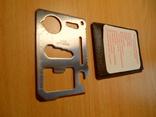Мультицелевой карманный инструмент выживания, 11 функций., фото №8