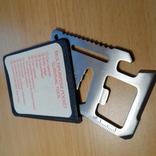 Мультицелевой карманный инструмент выживания, 11 функций., фото №2