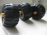 """Колеса, """"запаски"""" на авто игрушечное- 3 шт., фото №7"""