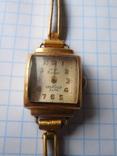 Часы Заря 40 лет КАЗ СССР Au с браслетом, фото №3