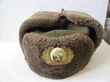 Шапка ушанка армии Болгарии с кокардой, фото №2
