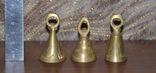 Набор латунных колокольчиков 3шт, фото №2
